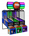 NBA Hoops - 3 Player Cabinet with Marquee