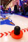 Sonic Sports Air Hockey - A close up of a mallet
