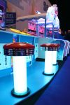Centipede Chaos - Closeup of the brightly lit stools