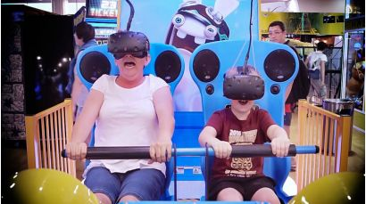 Virtual Rabbids: The Big Ride - Family getting scared