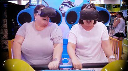 Virtual Rabbids: The Big Ride - Friends laughing and having fun