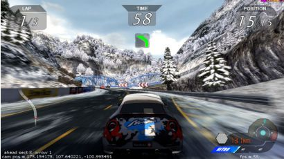 Storm Racer STD - Driving through a snowy setting