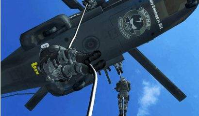 Target Bravo: Operation Ghost DLX - Agents descending from a helicopter