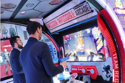 Mission: Impossible Arcade - 2 Players Concentrating on fighting the enemy
