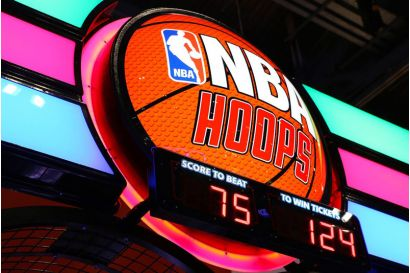 NBA Hoops - Closeup of the marquee