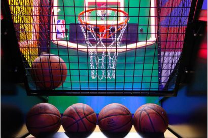 NBA Hoops - Basketball ready to be released to the players