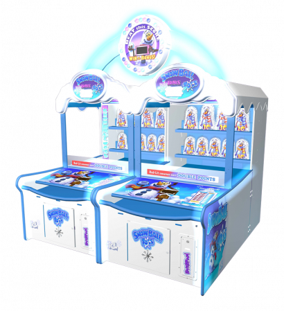 Snowball Toss - 2 Player Cabinet with Marquee