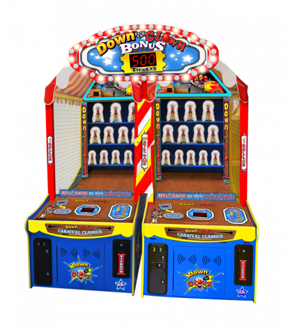 Down The Clown - Twin with Bonus Marquee Single Cabinet
