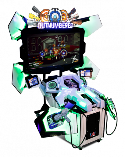 Outnumbered - 2 Player Cabinet Green