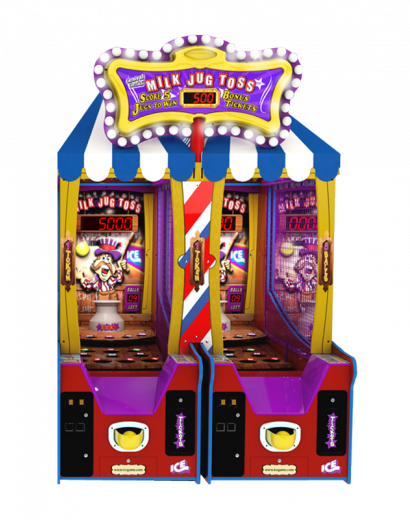 Milk Jug Toss - 2 Player Cabinet with Marquee