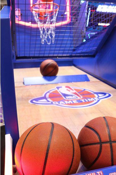 NBA Game Time - Closeup of the basketballs