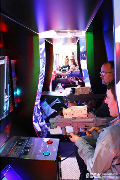 Target Bravo: Operation Ghost DLX - Two players concentrating on shooting the enemy