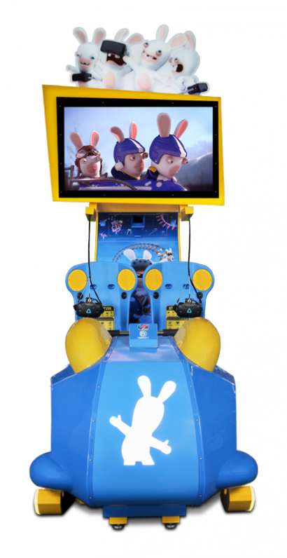 Virtual Rabbids: The Big Ride - 2 Player Cabinet front on view