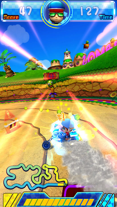 Hot Racers - Avoiding Obstacles